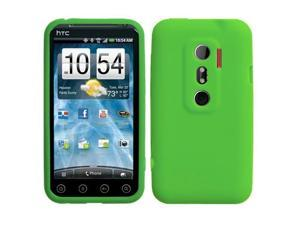 Dark Green Solid Rubberized Silicone Gummy Skin Cover Case for HTC Evo 3D