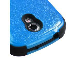 For Galaxy Galaxy Blue/Black Rugged TUFF Impact Cover Case +Built-In Stand