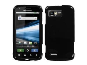 For MB865 Atrix 2 Solid Black Hard Snap On Phone Protector Cover Case
