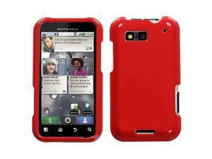 For MB525 Defy Solid Flaming Red Hard Snap On Phone Protector Cover Case