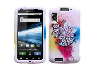 For MB860 Olympus/Atrix 4G Butterfly Paradise Phone Protector Cover