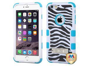 For iPhone 6S Plus/6+ Zebra Skin/Tropical Teal TUFF Hybrid Case Cover (+Stand)