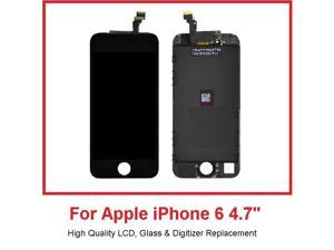 Black Replacement LCD Touch Screen Digitizer Glass Assembly for iPhone 6 4.7""