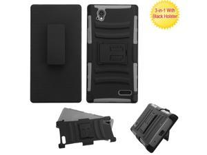 For N9518 Warp Elite Black/Gray Advanced Armor Stand Case Cover (With Holster)