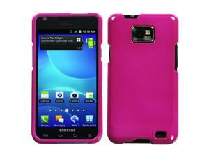For I777 Galaxy S II Solid Hot Pink Hard Snap On Phone Protector Cover Case