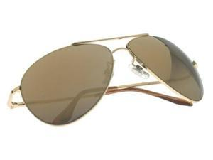 Brown Aviator Style Sunglasses