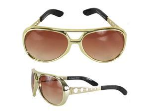 Classic Gold Rockstar Elvis Sunglasses