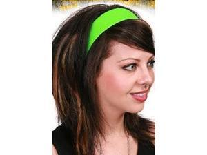 80's Neon Green Satin Headband
