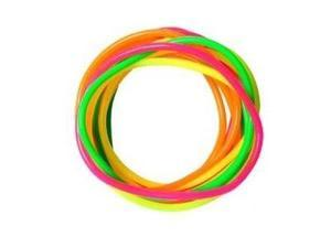 12 pieces Assorted Colors Jelly Bracelets - Plastic Bracelets