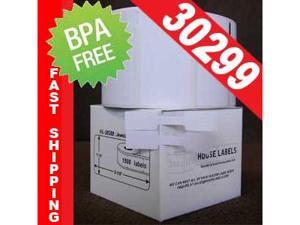 1 Roll of 1500 DYMO-compatible 30299 Jewelry Labels - Barbell Style (7/16in x 2-1/8in) in Mini-Cartons [BPA FREE]