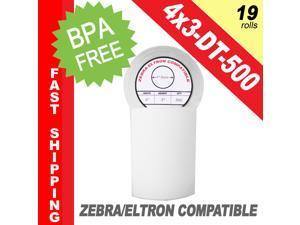 "Zebra/Eltron-Compatible 4 x 3 Labels (4"" x 3"") -- BPA Free! (19 Rolls&#59; 500 Labels per Roll)"