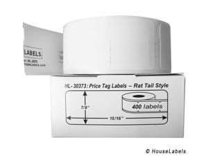 """DYMO-Compatible 30373 Pricetag Labels (7/8"""" x 15/16"""") -- BPA Free! (1 Roll&#59; 400 Labels per Roll)"""