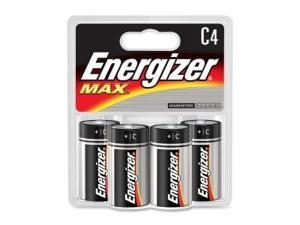 C Size Battery , Energizer Max , Premium Alkaline Battery , 4/Pack Evee93Bp4 -