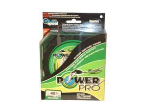 Power Pro 500 Yard Microfilament Line (40-Pound, Green) - 40Lbx500Yd Green Pp Braid
