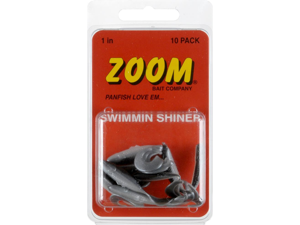 Zoom Swim N Shiner 1 inch Fishing Lures Pearl Black Back