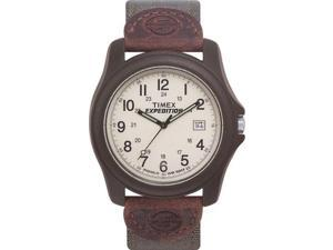 Timex Unisex T49101 Expedition Camper Brown Resin Case Green Nylon Strap Watch - Timex