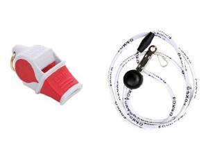 Fox 40 Sonik Blast Cmg Safety Whistle With Breakaway Lanyard Multi White/Red - Fox 40