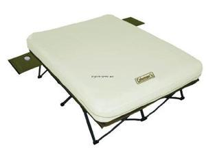 Coleman C001 Queen Airbed Cot With Side Tables And 4D Battery Pump - Coleman