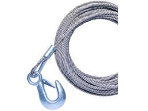 "Brand New Powerwinch 20' X 7/32"" Replacement Galvanized Cable W/Hook F/215, 315 & T1650 - Original Equipment Manufacture"