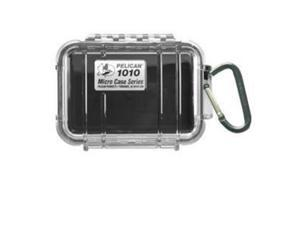 Pelican Black 1010 Micro Case with Clear Lid and Carabiner - 1010-025-100 - Pelican