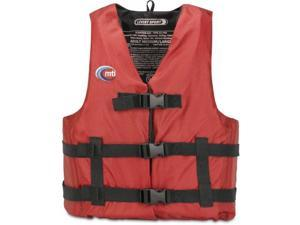 MTI Adventurewear Livery Sport PFD Life Jacket (Red-Medium/Large) - MTI Adventurewear