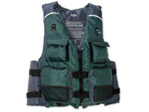 MTI Adventurewear Fisher SE Kayak Fishing PFD Life Jacket (Green/Gray, X-Small/Small) - MTI Adventurewear