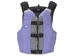 MTI Adventurewear APF All Person Fit PFD Life Jacket (Periwinkle/Gray, Universal) - MTI Adventurewear