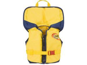MTI Adventurewear PFD Life Jacket with Collar (Yellow/Navy, Infant Size/0-30-Pound) - MTI Adventurewear