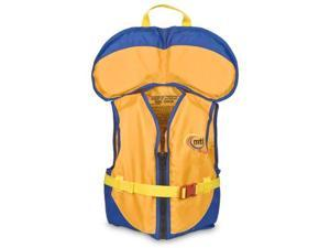 MTI Adventurewear PFD Life Jacket with Collar (Mango/Blue, Child Size/30-50-Pound) - MTI Adventurewear