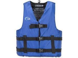 MTI Adventurewear Livery Sport PFD Life Jacket (Blue, Medium/Large) - MTI Adventurewear