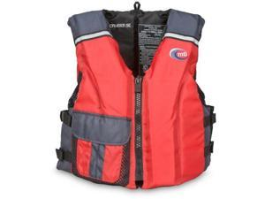 MTI Adventurewear Cruiser SE PFD Life Jacket (Red/Gray, Medium/Large) - MTI Adventurewear