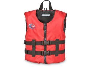 MTI Adventurewear Livery PFD Life Jacket (Red, Child Size/30-50-Pound) - MTI Adventurewear