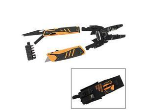 Gerber 30-000454 Groundbreaker Electricians Tool with Wire Cutters, Strippers, Utility Knife, Drywall Saw and Belt Sheat