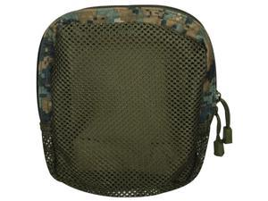 Digital Woodland Camouflage Tactical Mesh Front Organizer Pouch - 7 x 6 x 2.25, MOLLE & Duty Belt Compatible