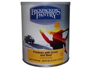 Backpackers Pantry #10 Canpotatoes & Gravy & Beef Can -Bp Entree #10 Cans