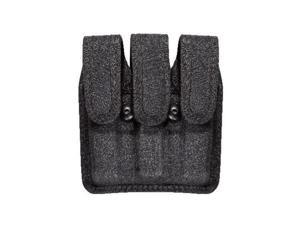 Bianchi Patroltek 8045 Black Hidden Snap Slimline Triple Magazine Pouch (Size 3) - 25427 - Bianchi