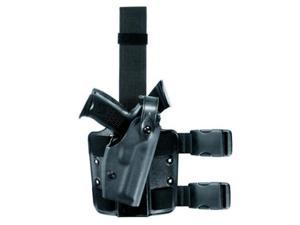 Safariland Black Double Leg Strap Right Hand 6004 Sls Tactical Holster, Sti/Svi Infinity Lighted Gun With Rails And Sure