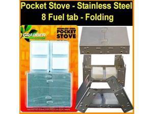 Esbit Style Pocket Survival and Emergency Stove - Stainless Steel - Folding - Esbit