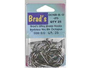 Brad'S Killer Fishing Gear Nic/Blk Brbless Hook 8/0,25Pk OCNB-8/0-25 (Fishing/Terminal)
