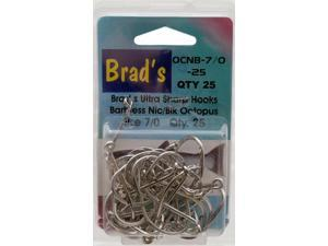 Brad'S Killer Fishing Gear Nic/Blk Brbless Hook 7/0, 25Pk OCNB-7/0-25 (Fishing/Terminal)