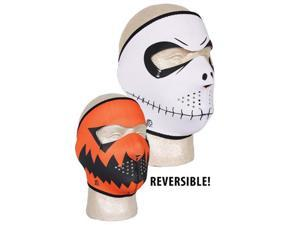 Neoprene Thermal Face Mask - Skelly Reverse To Pumpkin- Skelly Reverses To Pumpkin-