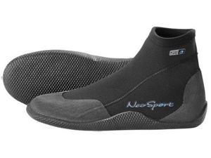 Neosport Wetsuits Premium Neoprene 3mm Low Top Pull On Boot,all Black,11 - NeoSport