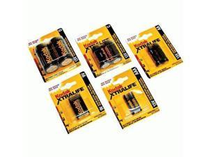 Kodak Xtralife 9V Alkaline (K9V1-1) Twelve (1) Packs = 12 Batteries - Kodak
