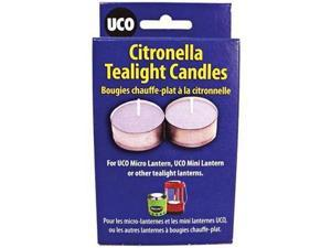 Uco Citronella Tealight Candle 6Pk -Tea Light Candles