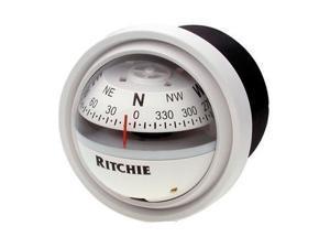 Ritchie V-57W.2 Explorer Compass - Dash Mount - WhiteRitchie - V-57W.2