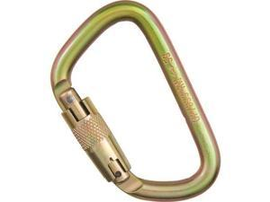 "Omega Modified ""D"" Steel Carabiner 3-Stage Auto-Lock/Gold - Omega Pacific"