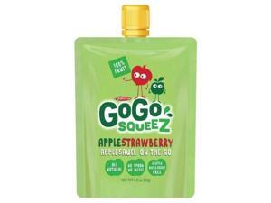 GoGo Squeez Strawberry Apple Sauce - All Natural, pack of 12 pouches - Gogo Squeez