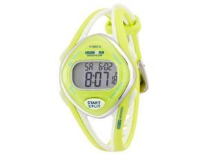 Timex Women's T5K656 Ironman Sleek 50-Lap Lime Resin Strap Watch - Timex