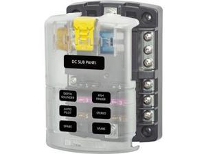 Blue Sea 5025 ST Blade Fuse Block w/Cover - 6 Circuit w/Negative BusBlue Sea Systems - 5025