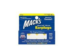 Mack's Pillow Soft Silicone Earplugs, Value Pack 2 Pair - Macks